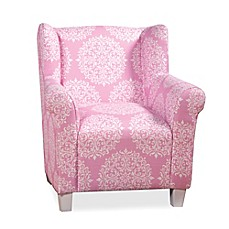 image of Kids' Pink Medallion Print Chair