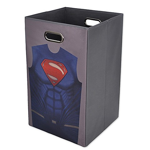 Batman vs superman superman folding laundry hamper bed bath beyond - Superhero laundry hamper ...