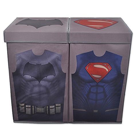 The laundry shop batman vs superman uniform double laundry hamper from buy buy baby - Batman laundry hamper ...