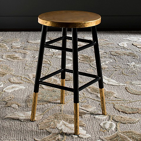 Buy Safavieh Emery Counter Stool In Black Gold From Bed
