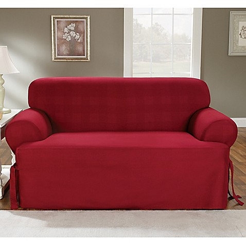 Sure Fit 174 Duck Supreme Cotton T Cushion Loveseat Slipcover