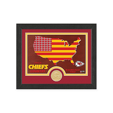 NFL Kansas City Chiefs Country Framed Wall Art with Bronze Team Coin ...