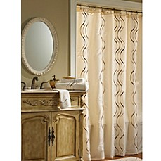 Image Of Croscill® Dante Champagne Fabric Shower Curtain