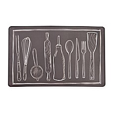 Image Of Utensils Chef Step Kitchen Cushion Mat In Black