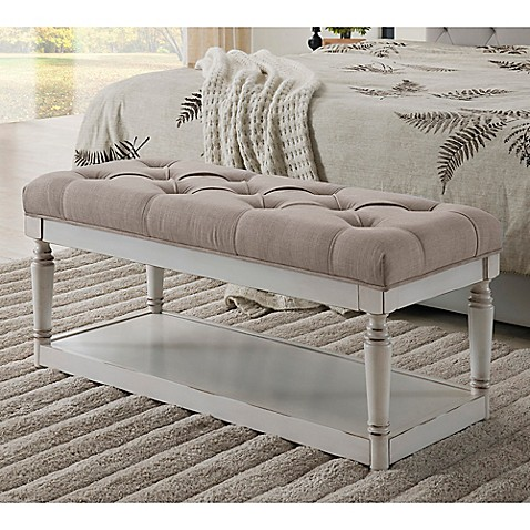 Buy Legacy Home Fashion Linen Storage Bench In Ivory From