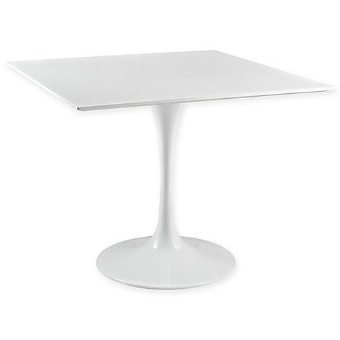 Buy Modway Square Wood Top 36 Inch Dining Table In White