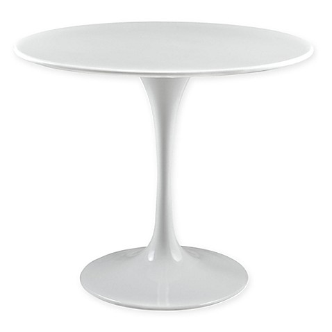 Buy modway lippa round wood top 36 inch dining table in white from bed bath beyond - Inch round wood table top ...
