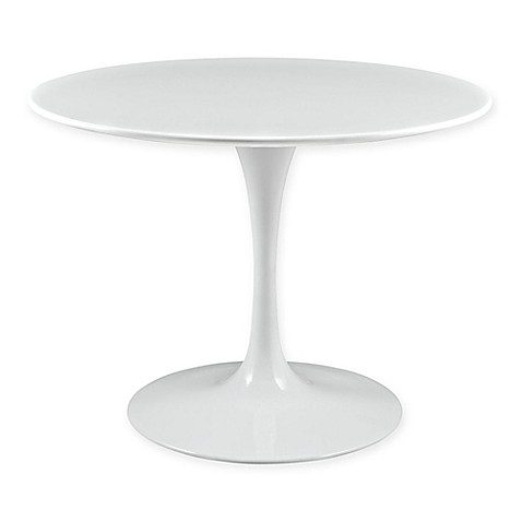 buy modway lippa round wood top 40 inch dining table in white from bed bath beyond. Black Bedroom Furniture Sets. Home Design Ideas
