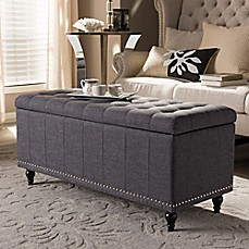 image of Kaylee Storage Ottoman Bench