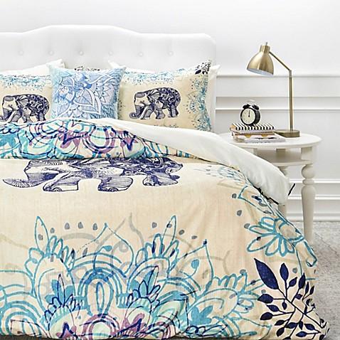 Deny designs rosebudstudio wild heart duvet cover bed for Studio one bed cover