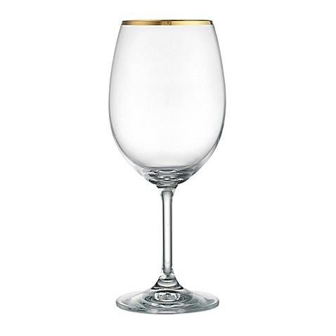 gilded wine glasses