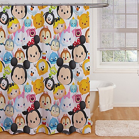 DisneyR Tsum Tsum Stacks Shower Curtain