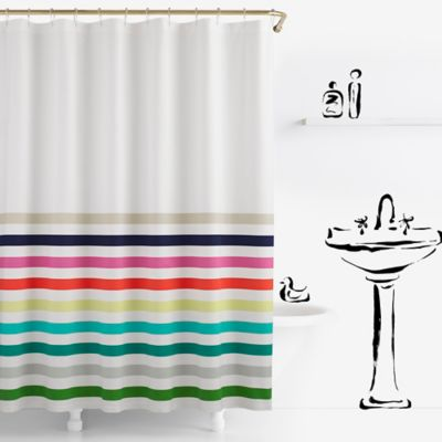 kate spade new york Candy Stripe Shower Curtain Bed Bath Beyond