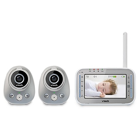 vtech vm342 2 4 3 inch digital video baby monitor with 2 cameras buybuy baby. Black Bedroom Furniture Sets. Home Design Ideas