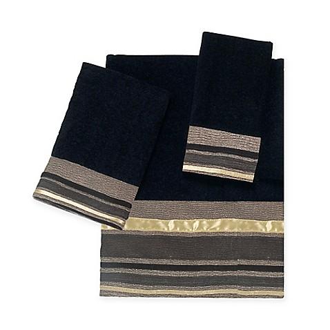 Avanti Geneva Bath Towel Collection In Black Bed Bath Beyond