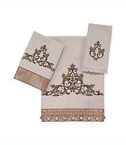 Toalla de medio baño de algodón Avanti Monaco® color marfil