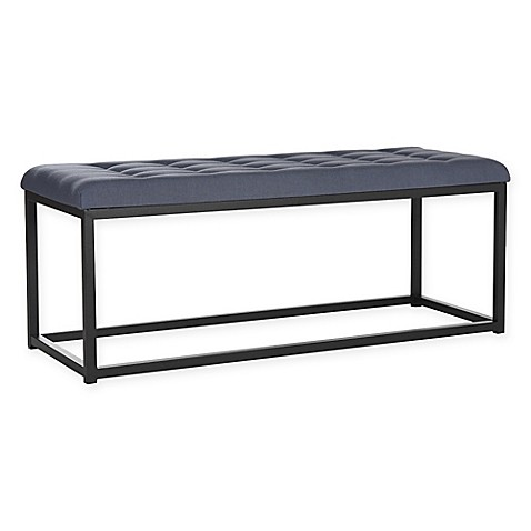Buy Safavieh Reynolds Bench In Navy Black From Bed Bath Beyond