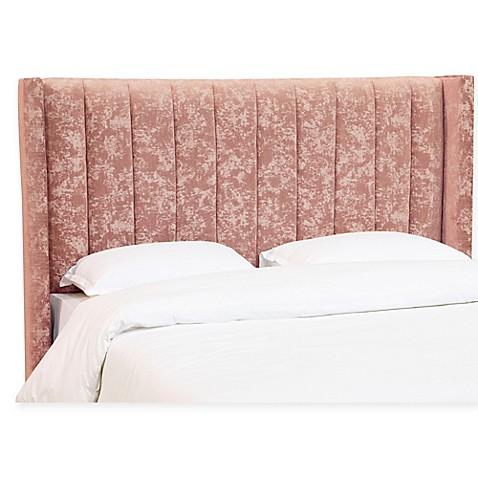 Skyline Furniture Hixon Channel Seam Wingback Headboard In Blush Bed Bath Beyond