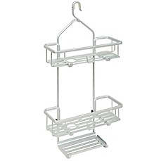 image of TITAN® NeverRust® Aluminum Slat Shower Caddy in Satin Chrome