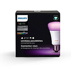 image of Philips Hue White and Color Ambiance A19 Starter Kit