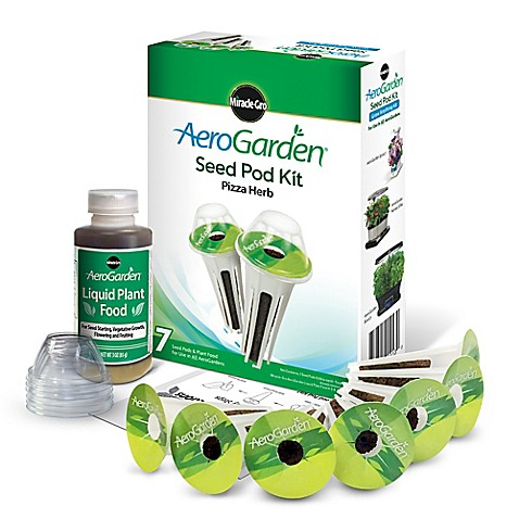 Miracle Gro 174 Aerogarden Pizza Herb Seeds 7 Pod Kit Bed