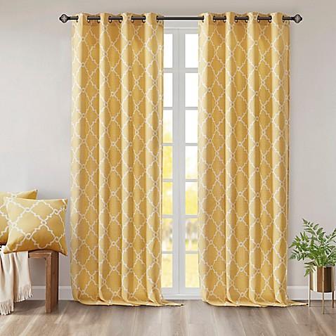 Buy Madison Park Saratoga 95 Inch Grommet Top Window