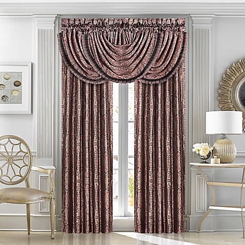 J Queen New York Bridgeport Window Curtain Panel Pair And Valance In Red Bed Bath Beyond