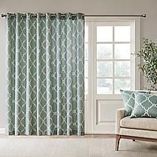 Madison Park Saratoga 84 Inch Grommet Top Patio Door Window Curtain Panel