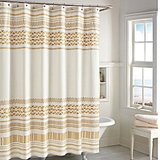 image of CHF Industries Kalamata Shower Curtain in Gold