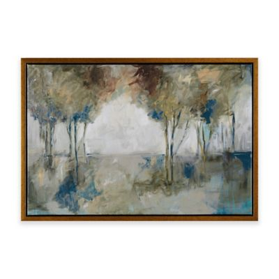 image of Madison Park Muted Trees At Dusk Framed Canvas Wall Art