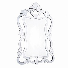image of Valentina 26-Inch x 43-Inch Rectangular Wall Mirror in Silver