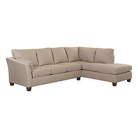 klaussner drew 2 piece sectional sofa with right chaise