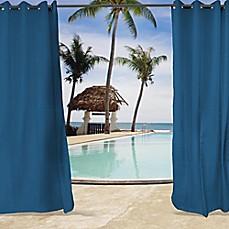 SunbrellaR Canvas Grommet Top Indoor Outdoor Curtain Panel