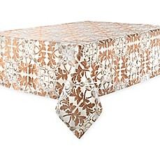 image of Waterford® Linens Octavia Tablecloth in Bronze