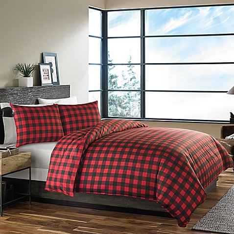 Buy Eddie Bauer 174 Mountain Plaid Twin Comforter Set In Red