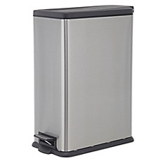 Ordinaire SALT™ 45 Liter Rectangular Slim Step Trash Can
