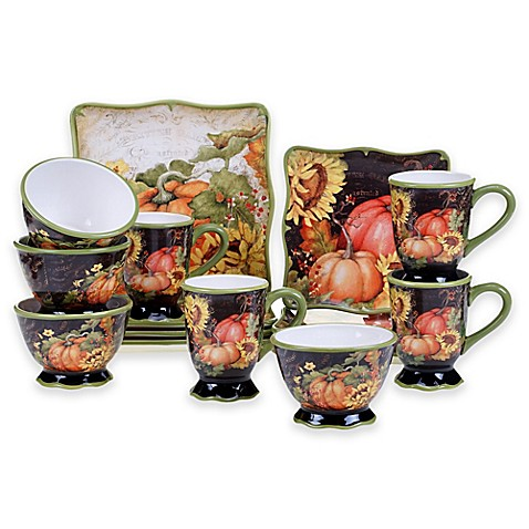 Certified International Botanical Harvest© Dinnerware Collection by ...