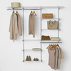 Rubbermaid® 3 Foot To 6 Foot Deluxe Closet Organizer Kit In White