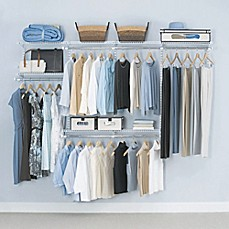 image of Rubbermaid® 4-Foot to 8-Foot Closet Organizer Kit in White