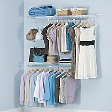 Image Of Rubbermaid® 3 Foot To 6 Foot Closet Organizer Kit In White