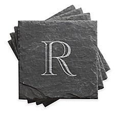 image of Traditional Initial Slate Coasters (Set of 4)