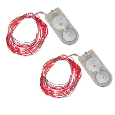 Buy Submersible Mini String Lights in Red (Set of 2) from Bed Bath & Beyond