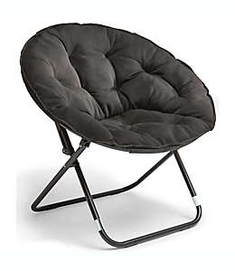 Silla plegable Simply Essential™ de estilo lounge color negro