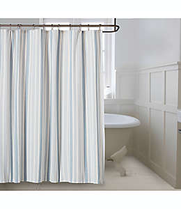 Cortina de baño Bee & Willow™ Home Coastal color azul neblina