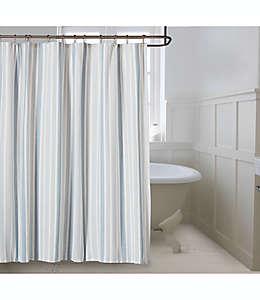 Cortina de baño de algodón Bee & Willow™ Home Coastal color azul neblina