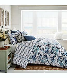 Set de edredón matrimonial/queen de lino Bee & Willow™ Home Vintage Rose color azul, 3 piezas