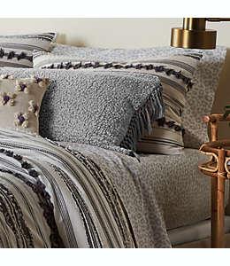 Juego de sábanas queen Wild Sage™ de algodón percal color gris leopardo