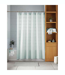 Cortina de baño Haven™ Pebble color gris cielo