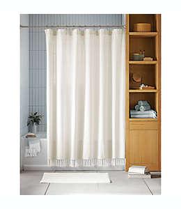 Cortina de baño Haven™ de algodón orgánico color blanco