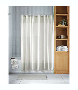 Cortina de baño Haven™ Two Tone color gris